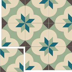 Carreaux de ciment Floorilège - Motif alpha AL3