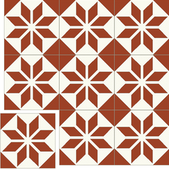 Carreaux de ciment Floorilège - Motif éole EO3