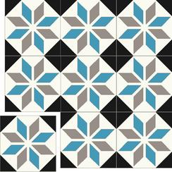 Carreaux de ciment Floorilège - motif éole EO6