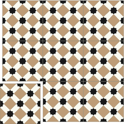 Carreaux de ciment Floorilège - Motif arabia AR5