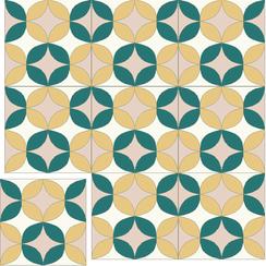 Carreaux de ciment Floorilège - Motif vintage VI6