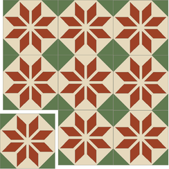 Carreaux de ciment Floorilège - Motif éole EO8