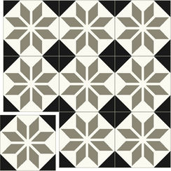 Carreaux de ciment Floorilège - Motif éole EO2