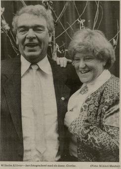 Wilhelm og Grethe Klüver 1989 på Wilhelms 60-års fødselsdag