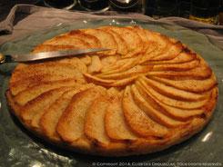 Tarte fine aux pommes, cannelle