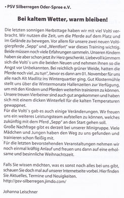"""Odervorland Kurier"", Dezember-Ausgabe 2014"