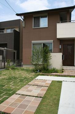 一宮市 お庭と外溝が一体となった空間