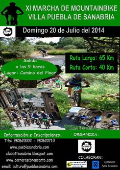 XI MARCHA BTT PUEBLA DE SANABRIA - 20-07-2014
