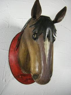 garderobe pferdekopf , trophäe pferde , blech pferdekopf