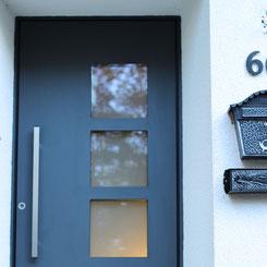 Haustüre mit quadratischen Glas online kaufen