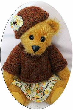 """Teddybär """"Claudia"""" von Hand gefertigt, Unikat"""