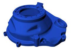 Produktentwicklung als CAD - Konstruktion eines Mechanik aus Kunststoff zur Herstellung in einer CNC-Fräserei und CNC-Dreherei (hier Pumpengehäuse mit Flansch)