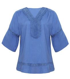 blaue Ethnik Bluse
