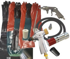 Sandstrahlhandschuhe, Strahlkabinenzubehör, Strahlanlagenersatzteile, Kabinenzubehör, Sstrahltechnik