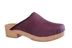 sabot suédois pour femme sur semelle bois, chaussure sur mesure réalisé aux sabots d'isa
