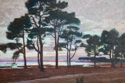 "Pierre Gaston Rigaud. ""La hume 1905"". Bassin d'Arcachon."