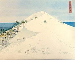 """Jean Paul Alaux """"les visions japonaises"""" achète Galerie Bassam, La grande Dune du Pyla- Pilat. Haffner lance. Hotel ville d'hiver. La grande librairie Arcachon."""