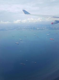 Landeanflug, Singapur