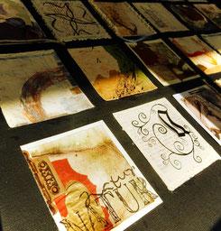 kalligraphieren, gestalten, kleben