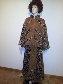 Giraffenlook-Kleid 2Tlg,Gr.L, Fr.30.-
