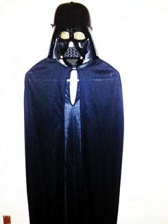 Umhang/schwarz, mit Maske,Fr.15.-