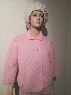 Rosa/Pink Jäckchen,Gr.L,Fr.12.-, Nachthaube mit feinem Blumenmuster Fr.3.-