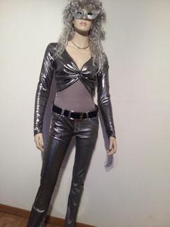 DISCO Silver-Girl     Hose Gr.S/M + M/L