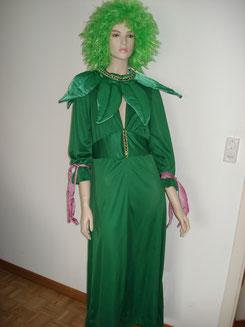Wald-/ Frühlingsfee, Kleid mit Blattkragen, Gr.S/M,Fr.35.-