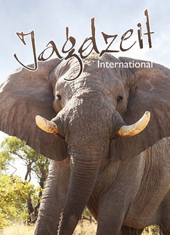 Jagdzeit International 7, Cover= Afrikanischer Elefant, Elefantenbulle