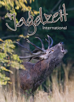 Jagdzeit International 8, Cover= Röhrender Rothirsch im Profil