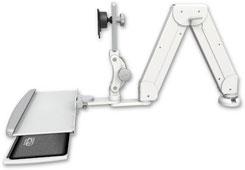 デスクマウント ガススプリング内蔵 ロングモニターアーム VESA ディスプレイキーボード用:ASELP5216-DT