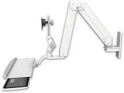 ICWUSA ダブルアーム モニターアーム, ウォールマウント, ELP5220シリーズ, 医療, 医療機器, 病院, 病院設備, デンタル,  歯科, ヘルスケア, ロングアーム, メディカル, メディカルIT, メディカルモニター, ディスプレイ キーボード用アーム ガススプリング 昇降式アーム ELP5220-WT-KUP 壁面固定 壁取付 ディスプレイキーボード用アーム