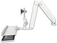 デスクマウント ガススプリング内蔵 ロングモニターアーム VESA ディスプレイキーボード用:ASELP5220-DT-KDP