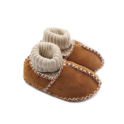 Chaussons ballerines chaussettes chaussette en peau d'agneau mouton peau lainée fourré fourrure naturelle dessus cuir élastique camel fille pointure 17-18-19-20-21 garçon cadeau naissance idée