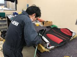 施工前:車の内装張替え・補修例3【カーフレッシュ新潟】