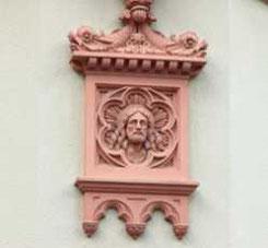 Untere Endestraße 4, Fassadendetail