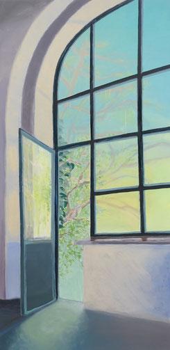 Fenster 5,  180x90cm,  Acryl/LW 2017 (verkauft)