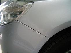 Schadstelle nach der Reparatur