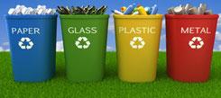 tri sélectif - recyclage - bio - papier - métal - bois