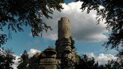Ruine Weißenstein auf dem 863 m hohen Weißenstein im Naturpark Steinwald