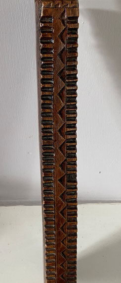 Large chip carved washing bat early 19thc or earlier