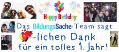 1. Geburtstag, Happy Birthday, BildungsSache,