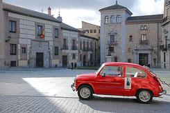 seat 600,madrid,plaza de la villa,rutas,rutas en 600