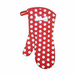 Jessie Steele Ofenhandschuh rot mit Polka Dots