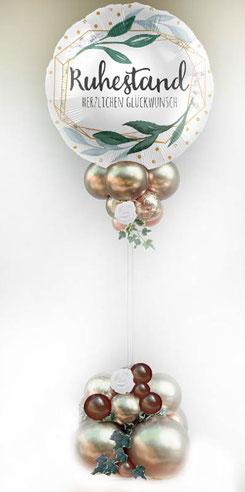 Folienballon Luftballon Ballon Alles Gute zum Ruhestand Herzlichen Glückwunsch Rente Pension Frau Mann Bouquet Strauß Überraschung Mitbringsel Versand Helium Ständer Gebinde Arrangement edel außergewöhnlich exklusiv