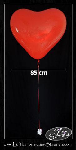 Heliumherz Riesenherz Ballon Luftballon rot Hochzeit Polterabend Liebe Helium