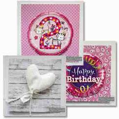 Glückwunschkarten Karten Grußkarten Kärtchen Ballon Luftballon Geburtstag Hochzeit Liebe
