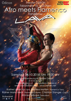 lava afro tanz flamenco perkussion odeo theater wien Karine LaBel