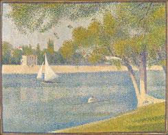 Georges SEURAT (1859-1891), La Seine à la Grande-Jatte, Huile sur toile, 65 x 82, (1888) © Bruxelles, MRBAB/KMSKB