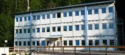 Трехэтажное модульное здание containex